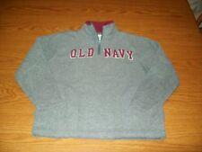 OLD NAVY GIRL'S Sz. 6/7 GRAY/WINE FLEECE 1/4 ZIP PULLOVER SCHOOL/FALL/WINTER EUC