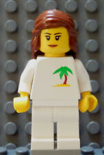 LEGO Carribean Ocean Island Vacation Beach Boat vacation Cruise Girl Brown Hair
