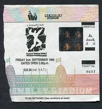 Bruce Springsteen Peter Gabriel 1988 Human Rights Now London Concert Ticket Stub