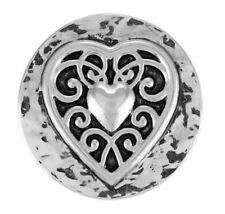"""Ginger Snaps Jewelry """"Vintage Heart"""" SN01-01 Buy 4 Get One $6.95 Snap Free"""