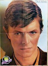 DAVID BOWIE / PATRICK SABATIER => POSTER 4 PAGES 1980  recto verso !!!