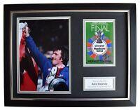 Alex Stepney Signed Autograph 16x12 framed photo display Man Utd FA Cup 1977 COA