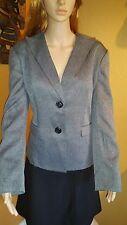 Le Suit Prague Charcoal Herringbone Jacket Size 16