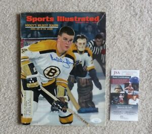 1967 Bobby Orr Sports Illustrated Mag First Cover RC Auto / Signed JSA COA HOF