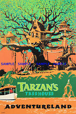 """Vintage Disney Tarzan's Treehouse 8.5"""" x 11""""  Poster Free Poster for 2or More"""