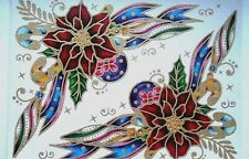 Christmas Glitter Window Corner Cling Stickers Decoration Traditional Decal Xmas
