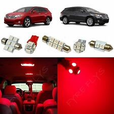 10x Red LED lights interior package kit for 2009-2013 Toyota Venza TV1R