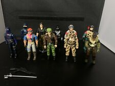 Lot of 10 GI Joe ARAH 1980's Figures with some accessories