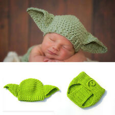 Master Yoda Baby Girls Boys Crochet Knit Costume Photo Photography Prop Outfits