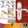 Stainless Steel Privacy Door Security Entry Lever Mortise Handle Locks Full Set