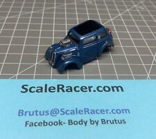NEW OFFERING- Mid. Blue Metallic Anglia  Body for Aurora Dash Tjet type Chassis