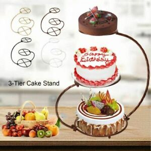 3 Tier Creative Cake Stands 60cm Metal Cupcake Cookies Display Holder Decoration