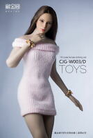 1/6 Scale Strapless Wool Dress Sweater Skirt Clothing Suit Fit 12'' Female Body