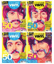 Long Live Vinyl Magazine #4 The Beatles John Lennon, Paul McCartney 4 SET COVERS