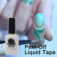 15ML White Peel Off Liquid Tape Latex Nail Polish Hedge Base Coat Nail Palisade