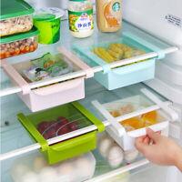 Slide Freezer Fridge Space Saver Shelf Holder Storage Box Organizer Rack Kitchen