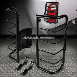 FOR 06-10 HUMMER H3 SUV BLACK STAINLESS STEEL TAIL/BRAKE LIGHT/LAMP CAGE GUARD