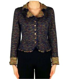 JOSEPH RIBKOFF Frill Textured Peplum Jacket - 173687 Size 16 RRP £266.00