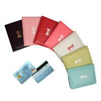 Newest Women Girls Bowknot Business ID Credit Card Pocket Bag Wallet Holder Case