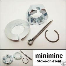 Classic Mini Front Disc CV Joint Hub Nut & Split Washer Kit INC. Pin and Circlip