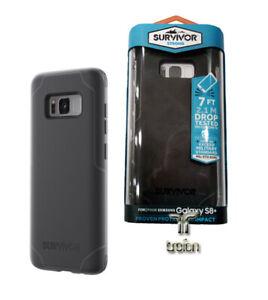 Griffin Case Survivor Strong für Galaxy S8+, Schwarz Grau