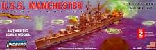 Lindberg U.S.S. MANCHESTER Plastic Model Kit 1/600 NEW!