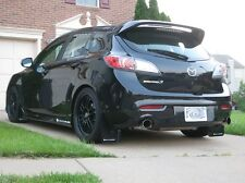Rally Armor 2010-2013 Mazdaspeed 3 & Mazda 3 UR BLACK Mud Flaps Kit WHITE Logo
