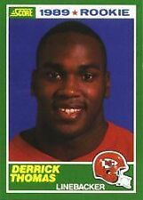 1989 Score Derrick Thomas #258 Football Card
