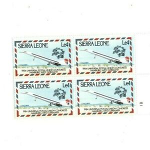 VINTAGE CLASSICS - Sierra Leone - 623 Postal Union Congress - Block Of 4 - MNH