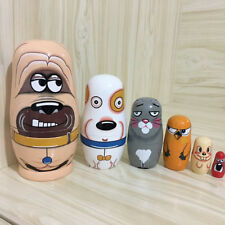6pcs Russian Dolls Handmade Wooden Nesting Traditional Matryoshka Kids Xmas Toys