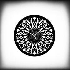Orologio in Vinile da Parete Fiore Artwork Mandala Yin Yang Design 03 Moderno