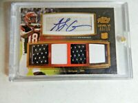 2011 TOPPS PRIME LEVEL VI AJ GREEN  AUTOGRAPHED ROOKIE W/GAME USED  # 03 / 25