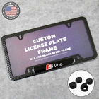 S Line Sport Front Or Rear Carbon Fiber Texture License Plate Frame Cover Gift