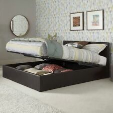 Faux Leather Medium Firm Modern Beds with Mattresses