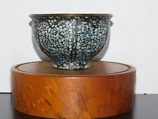 Bowl: Brass & Turquoise Chip Inlay