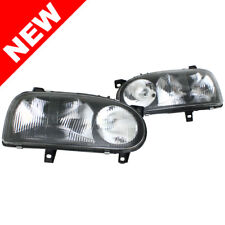 93-99 VW GOLF/GTI MK3 E-CODE BLACK SMOKE EURO DUAL HEADLIGHTS w/ GLASS LENSES