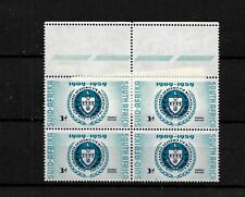 South Africa 1959 Academy of Science VARIETY in MNH marginal  block of 4 (SA134)