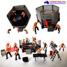 WWF WWE WrestleMania 12 MINI Action Figurines With Ring Fence Gym Kids Boys Toy