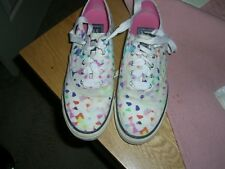 Sperry Top Sider Milly Confetti Laceless Canvas Boat Shoes Slip-On 7M