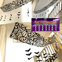3M HANGING SPIDER or BAT CEILING HANG WALL WEB COBWEB HALLOWEEN PARTY DECORATION