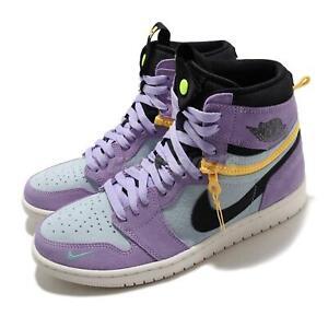 Nike Air Jordan 1 Switch AJ1 Purple Pulse Black Yellow Men Shoes CW6576-500