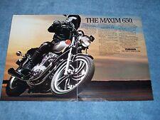 "1981 Yamaha Maxim 650 Vintage Motorcycle 2pg Ad ""The Maxim 650"""