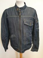 E912 MENS G-STAR RAW BLUE FULL ZIP DENIM JACKET UK L EU 52