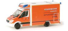 """Herpa Mercedes-Benz Sprinter Fahrtec """"Hamburg fire department"""" 1:87 modellismo"""