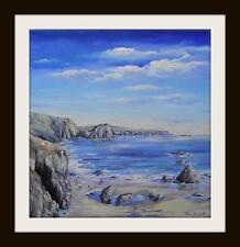 The Lizard, Cornwall: pintura al óleo originales por Robin Beckett Grande 40cm X 40cm