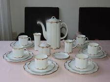 TOP Kaffeeservice Rosenthal  Monbijou Rambouillet  6 Pers. handgemalt Vase 24 T.