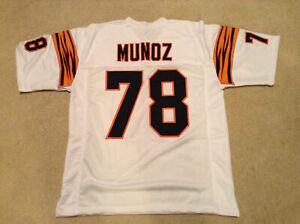 UNSIGNED CUSTOM Sewn Stitched Anthony Munoz White Jersey - M, L, XL, 2XL