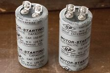 GP Enterprise Co Electrolytic Motor Starting Capacitor 150 MFD 125 VAC 2-pieces