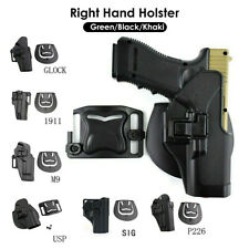 Tactical Right Hand Waist Leg Thigh Airsoft Pistol Holster for Glock17 M1911 M92