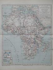 Landkarte zu den wichtigsten Forschungsreisen in Afrika, Meyer 1896